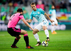 Jan Repas of Slovenia during football match between National Teams of Slovenia and Scotland of Fifa 2018 World Cup European qualifiers, on October 8, 2017 in SRC Stozice, Ljubljana, Slovenia. Photo by Vid Ponikvar / Sportida