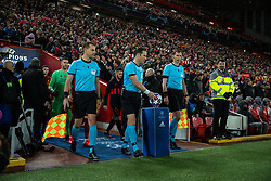 LIVERPOOL, ENGLAND - Wednesday, March 11, 2020: Referee Danny Makkelie (C) and his assistants Mario Diks and Hessel Steegstra before the UEFA Champions League Round of 16 2nd Leg match between Liverpool FC and Club Atlético de Madrid at Anfield. (Pic by David Rawcliffe/Propaganda)