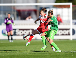 Bristol Academy's Christie Murray competes with Sunderland AFC Ladies' Kiera Ramshaw - Mandatory by-line: Paul Knight/JMP - 25/07/2015 - SPORT - FOOTBALL - Bristol, England - Stoke Gifford Stadium - Bristol Academy Women v Sunderland AFC Ladies - FA Women's Super League