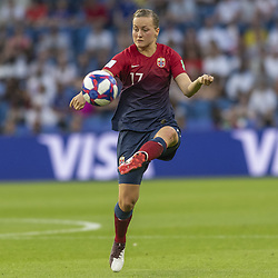 June 27, 2019 - Le Havre, França - LE HAVRE, SM - 27.06.2019: NORWAY VS ENGLAND - Kristine Minde of Norway during a match between England and Norway. World Cup Qualification Football. FIFA. Held at the Oceane Stadium in Le Havre, France  (Credit Image: © Richard Callis/Fotoarena via ZUMA Press)