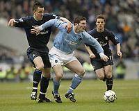 Foto: Aidan Ellis, Digitalsport<br /> NORWAY ONLY<br /> Manchester City v Chelsea.<br /> FA Barclaycard Premiership.<br /> 28/02/2004.<br /> City's John Macken and Chelsea's John Terry