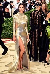 Emily Ratajkowski attending the Metropolitan Museum of Art Costume Institute Benefit Gala 2018 in New York, USA
