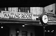Waiting room entrance at the historic Central Railroad of New Jersey Terminal at Liberty Park, Jersey City, New Jersey.