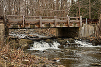 Grandview Road, Wooden Bridge over Rock Brook in Skillman, New Jersey. Image taken with a Nikon D200 camera and 17-55 mm f/2.8 lens.