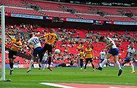 Football - 2018 / 2019 EFL Sky Bet League Two Play-Off Final - Newport County vs. Tranmere Rovers<br /> <br /> James Norwood of Tranmere heads the winning goal in extra time, at Wembley Stadium.<br /> <br /> COLORSPORT/ANDREW COWIE