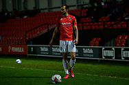George Boyd during the EFL Sky Bet League 2 match between Salford City and Bradford City at the Peninsula Stadium, Salford, United Kingdom on 21 November 2020.