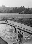 Children Playing in Pool, Carlisle, Cumbria, England, 1925