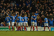 Portsmouth Players Celebrate after Portsmouth Midfielder, Ben Thompson (32) scores a goal to make it 3-1 during the EFL Sky Bet League 1 match between Portsmouth and Sunderland at Fratton Park, Portsmouth, England on 22 December 2018.