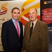 08.12.2016                   <br /> Pictured at the launch of the Shannon Airport Christmas Racing Festival at Hunt Museum were, Conor O'Neill, Limerick Racecourse and Paddy O'Callaghan, Limerick Racecourse. Picture: Alan Place