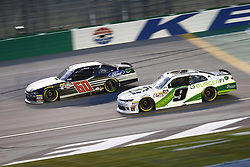 July 13, 2018 - Sparta, Kentucky, United States of America - Ty Majeski (60) and Tyler Reddick (9) battle for position during the Alsco 300 at Kentucky Speedway in Sparta, Kentucky. (Credit Image: © Chris Owens Asp Inc/ASP via ZUMA Wire)