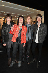 The Struts - JED ELLIOT, LUKE SPILLER, ADAM SLACK and GETH DAVIES at a party to celebrate the launch of the first European John Varvatos Store, 12-13 Conduit Street, London held on 3rd September 2014.