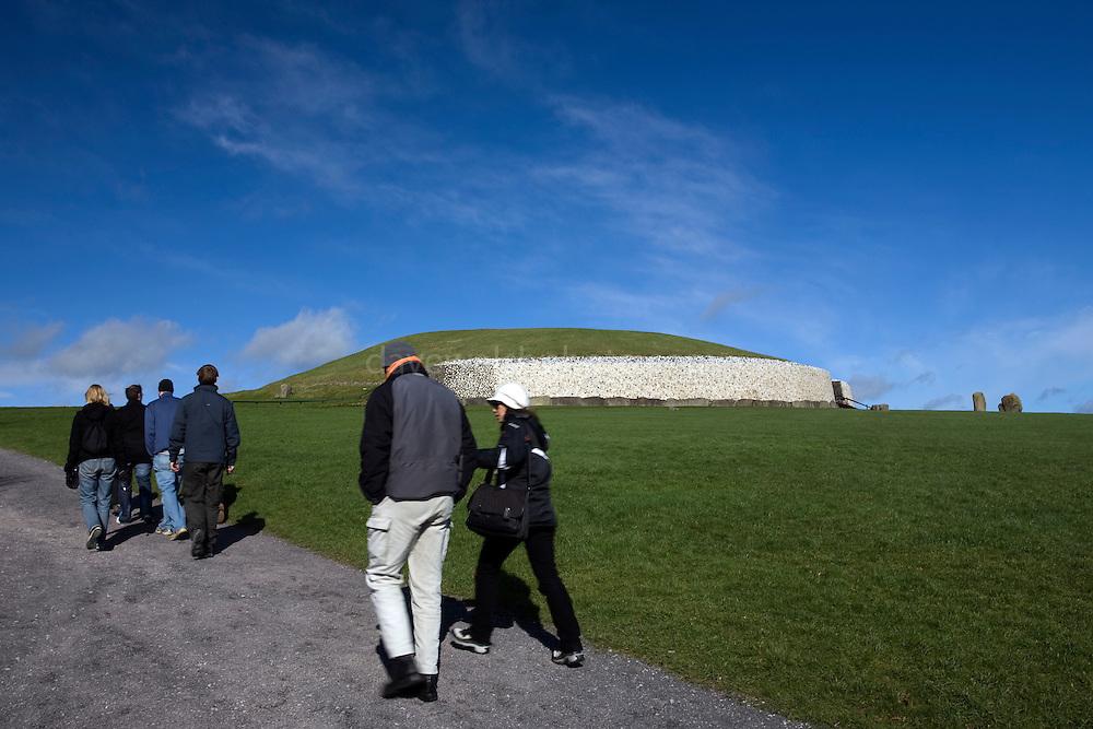 Tourists visiting Newgrange passage grave, County Meath, Ireland.