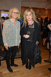 Left to right, author DJ CONNELL and HELEN LEDERER at a party to celebrate the 30th anniversary of Linley held at Linley, 60 Pimlico Road, London on 3rd May 2016.