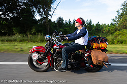 Bob Zeolla riding his 1939 Harley-Davidson EL Knucklehead in the Cross Country Chase motorcycle endurance run from Sault Sainte Marie, MI to Key West, FL. (for vintage bikes from 1930-1948). 287 mile ride of Stage-8 from Tallahassee to Lakeland, FL USA. Friday, September 13, 2019. Photography ©2019 Michael Lichter.