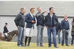 Guy Janssens, Nick Vrins, Niels Bruynseels, Nick Van Turnhout<br /> SBB Competitie Jonge Paarden - Nationaal Kampioenschap - Kieldrecht 2014<br /> © Dirk Caremans