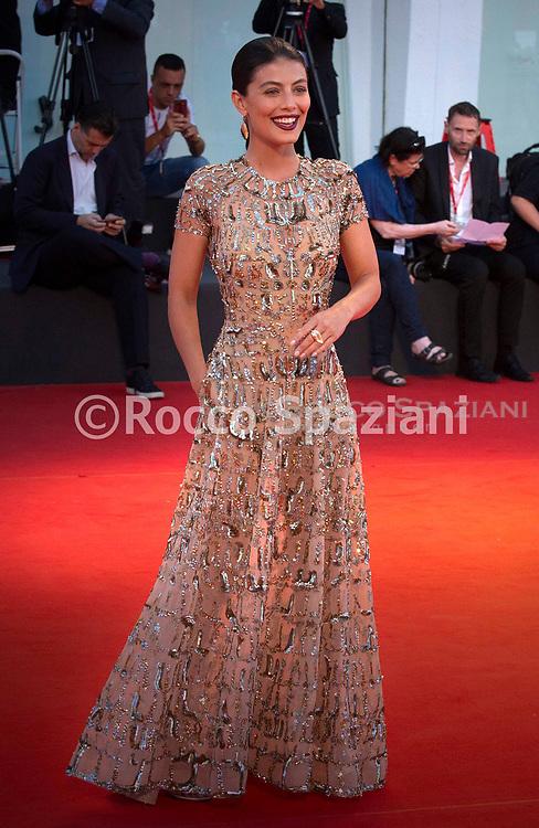 "VENICE, ITALY - SEPTEMBER 03: Alessandra Mastronardi walks the red carpet ahead of the ""Om Det Oandliga"" (About Endlessness) screening during the 76th Venice Film Festival at Sala Grande on September 03, 2019 in Venice, Italy."