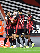 Goal 1-0 - Junior Stanislas (19) of AFC Bournemouth celebrates scoring his first goal during the EFL Sky Bet Championship match between Bournemouth and Nottingham Forest at the Vitality Stadium, Bournemouth, England on 24 November 2020.