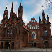 St. Anne's Church, catholic cathedral in Vilnius, Lithuania