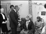 Noel Purcell Celebrates His 81st Birthday.23.12.1981..12.23.1981..23rd December 1981..Noel Purcell celebrates his 81st birthday in the Adelaide Hospital.Even the President Mr Patrick Hillary finds the time to celebrate with Noel.