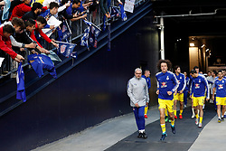 May 15, 2019 - Foxborough, MA, U.S. - FOXBOROUGH, MA - MAY 15: Chelsea FC defender David Luiz (30) leads Chelsea onto the pitch for warm up before the Final Whistle on Hate match between the New England Revolution and Chelsea Football Club on May 15, 2019, at Gillette Stadium in Foxborough, Massachusetts. (Photo by Fred Kfoury III/Icon Sportswire) (Credit Image: © Fred Kfoury Iii/Icon SMI via ZUMA Press)