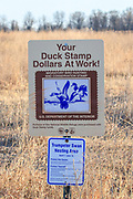 Signage at a Waterfowl Production Area and Wildlife Refuge in Wisconsin