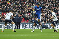 AFC Wimbledon midfielder Liam Trotter (14) controlling the ball during the The FA Cup 3rd round match between Tottenham Hotspur and AFC Wimbledon at Wembley Stadium, London, England on 7 January 2018. Photo by Matthew Redman.