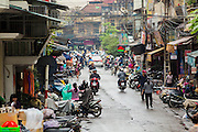07 APRIL 2012 - HANOI, VIETNAM: A street in Hanoi, the capital of Vietnam. Hanoi is one of the oldest cities in Southeast Asia. It was established in 1010 A.D.   PHOTO BY JACK KURTZ