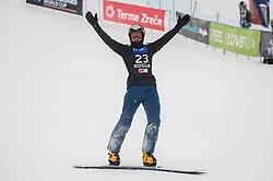 Mastnak Tim during the men's Snowboard giant slalom of the FIS Snowboard World Cup 2017/18 in Rogla, Slovenia, on January 21, 2018. Photo by Urban Meglic / Sportida