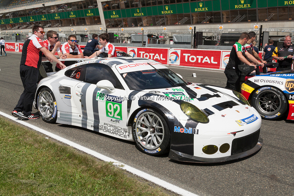 #92 Porsche 911 RSR, Team Manthey driven by Patrick Pilet, Frederic Makowiecki, Wolf Henzler, Le Mans 24hr 2015, Test Day