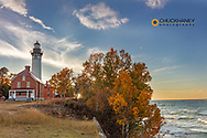 Au Sable Lighthouse at Pictured Rocks National Lakeshore, Michigan, USA