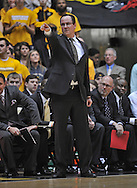WICHITA, KS - JANUARY 18:  Head coach Gregg Marshall of the Wichita State Shockers points out instructions against the Indiana State Sycamores during the first half on January 18, 2014 at Charles Koch Arena in Wichita, Kansas.  (Photo by Peter G. Aiken/Getty Images) *** Local Caption *** Gregg Marshall