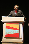 Chuck Jacksoon at the Apollo Theater 75th Birthday Celebration Press Conference announcing its special anniversary programming across Harlem, New York, and the Nation.