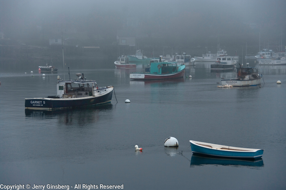 Lobster fishing thrives in Bass Harbor Maine.