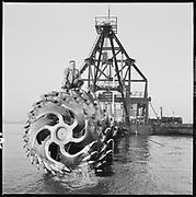 """P358-12. """"Dredge Cutterhead. November 2, 1967"""""""