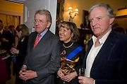 SIR CHRISTOPHER MEYER; LADY MEYER; CHARLES ANSON, Mrs. Richard Briggs at home to celebrate Catherine Meyer's birthday. Sloane Gardens. London. 28 January 2009