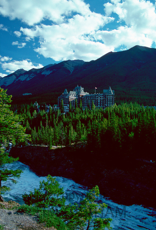 Banff Springs Hotel, Banff in the Canadian Rockies, Alberta, Canada