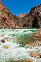 Whitewater rafting, Granite Rapid, Grand Canyon, Grand Canyon National Park, Arizona USA
