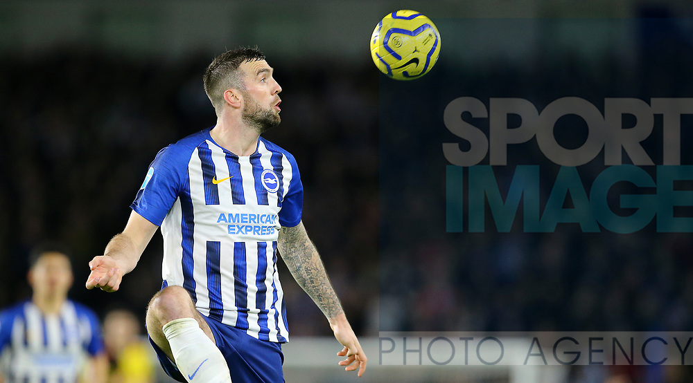 Brighton's Shane Duffy during the Premier League match at the American Express Community Stadium, Brighton and Hove. Picture date: 8th February 2020. Picture credit should read: Paul Terry/Sportimage