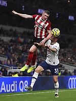Football - 2019 / 2020 Premier League - Tottenham Hotspur vs. Sheffield United<br /> <br /> Sheffield United's John Lundstram battles for possession with Tottenham Hotspur's Ben Davies, at Tottenham Hotspur Stadium.<br /> <br /> COLORSPORT/ASHLEY WESTERN