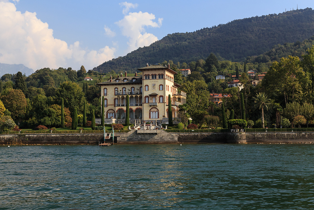 Villa Placida locates on the shore of Lago di Como, Italy. <br /> The villa dates back to the end of the 19th century.  In the last years, the luxury villa is available for rent to tourists.