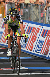 Leonardo Scarselli of ISD team at finish line of 2nd stage of 92nd Giro d'Italia in Trieste, on May 10, 2009, in Trieste, Italia.  (Photo by Vid Ponikvar / Sportida)