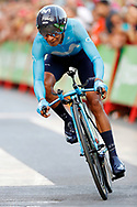 Nairo Quintana (COL - Movistar) during the UCI World Tour, Tour of Spain (Vuelta) 2018, Stage 1, individual time trial, Malaga - Malaga (8km) in Spain, on August 26th, 2018 - Photo Luis Angel Gomez / BettiniPhoto / ProSportsImages / DPPI