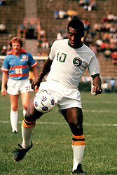 Pele playing for New York Cosmos on his debut