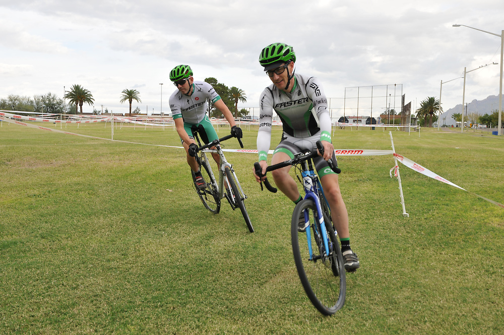 Racers warming up before Cyclovia Tucson fall 2014 cyclocross in Mansfield Park. Bike-tography by Martha Retallick.