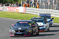 #66 Josh Cook BTC Racing Honda Civic Type R FK8  during BTCC Rounds 13,14 and 15 at Oulton Park, Little Budworth, Cheshire, United Kingdom. June 30 2019. World Copyright Peter Taylor/PSP. Copy of publication required for printed pictures.