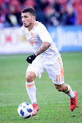 October 28, 2018 - Toronto, ON, U.S. - TORONTO, ON - OCTOBER 28: Eric Remedi (11) of Atlanta United FC runs with the ball during the first half of the MLS Decision Day match between Toronto FC and Atlanta United FC on October 28, 2018, at BMO Field in Toronto, ON, Canada. (Photograph by Julian Avram/Icon Sportswire) (Credit Image: © Julian Avram/Icon SMI via ZUMA Press)