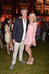 Ty Comfort and Caprice Bourret at the Victoria & Albert Museum's Summer Party in partnership with Harrods at The V&A Museum, Exhibition Road, London, England. 20 June 2018.