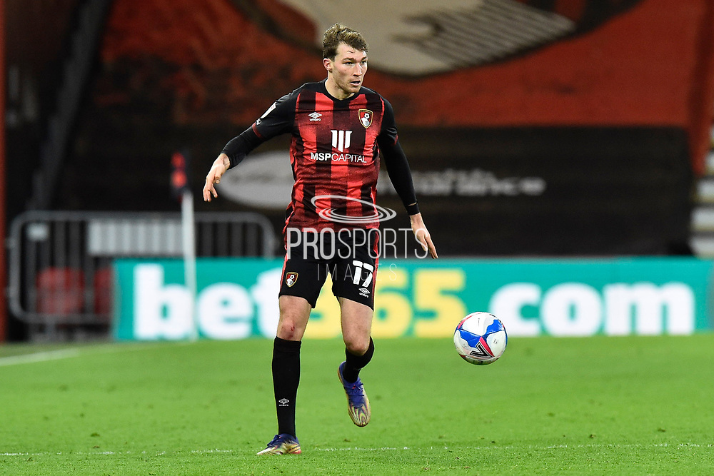 Jack Stacey (17) of AFC Bournemouth during the EFL Sky Bet Championship match between Bournemouth and Luton Town at the Vitality Stadium, Bournemouth, England on 16 January 2021.