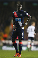 Moussa Sissoko of Newcastle United looks on. Barclays Premier league match, Tottenham Hotspur v Newcastle Utd at White Hart Lane in London on Sunday 13th December 2015.<br /> pic by John Patrick Fletcher, Andrew Orchard sports photography.