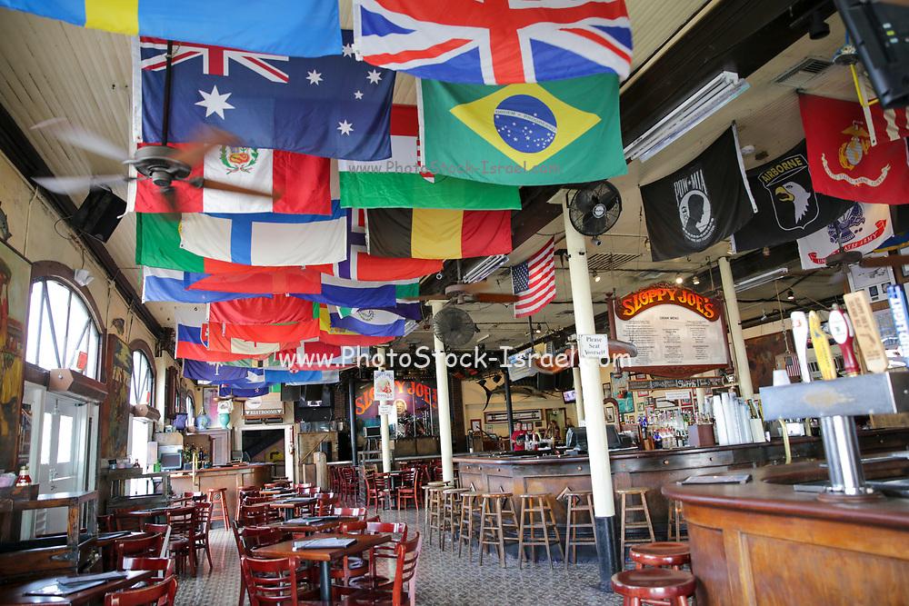 Interior of Sloppy Joe's Saloon, Duval Street in the old town, Key West, Florida Keys, USA